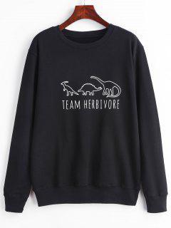 Animals Graphic Sweatshirt - Black 2xl
