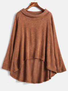 High Low Loose Knitwear - Tiger Orange L