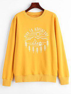 Viva La Adventure Graphic Sweatshirt - Bright Yellow S