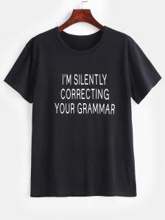 Im Silently Correcting Your Grammar Graphic Tee - Black L