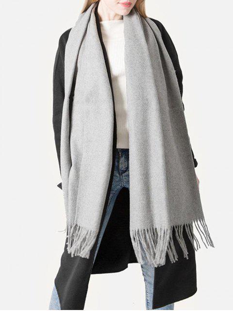 Элегантный Шарф С бахромой - Облачный серый  Mobile