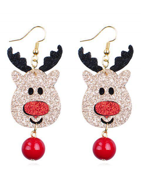 trendy Reindeer Ball Shape Dangle Earrings - MULTI  Mobile