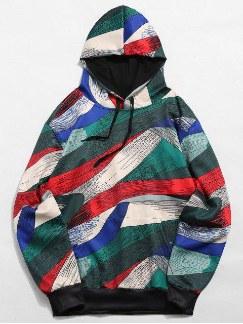 buy Abstract Art Design Pullover Drawstring Hoodie - MULTI-A S Mobile