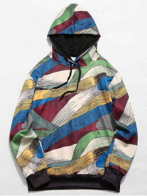 outfits Abstract Art Design Pullover Drawstring Hoodie - MULTI-B S Mobile