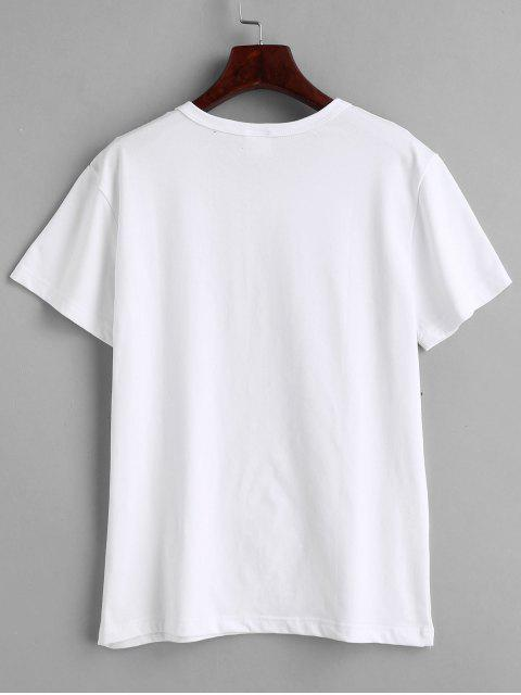 latest Tea Graphic T-shirt - WHITE L Mobile