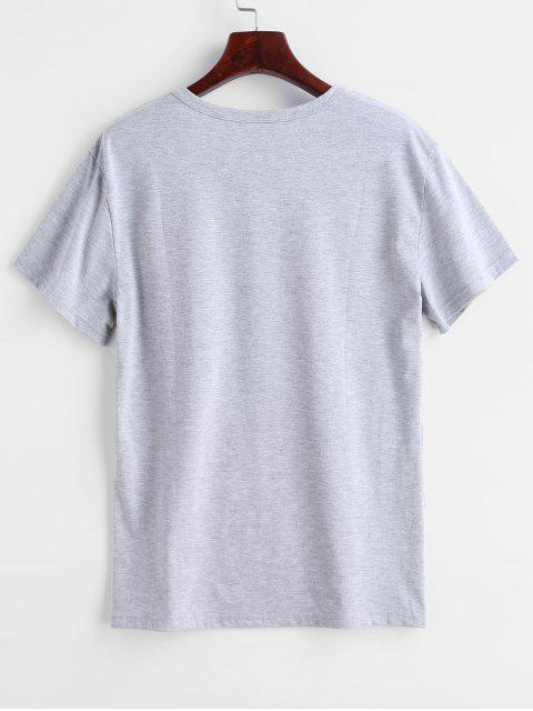 fancy I Cant People Today Graphic Tee - LIGHT GRAY S Mobile