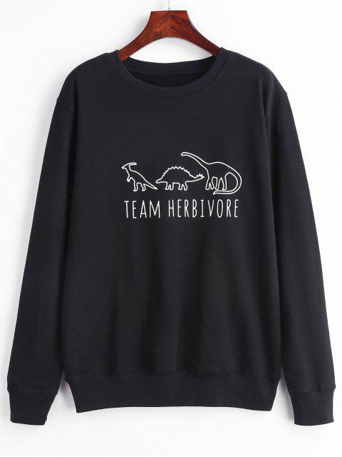 Tier-Grafik-Sweatshirt - Schwarz XL Mobile