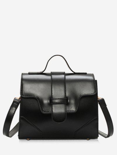 Magnetic Snap Cover Design PU Tote Bag - Black ...