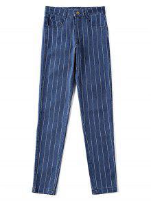بنطال جينز بخصر مرتفع - الدينيم الأزرق الداكن S