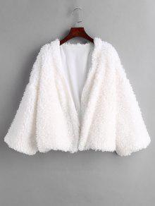 فتح معطف رقيق - أبيض