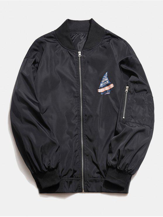 Tubarão jaqueta corta-vento gráfico - Preto XL