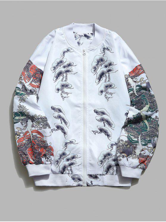 Veste Légère Ganoderma Femme Japonaise Imprimés - Blanc 2XL