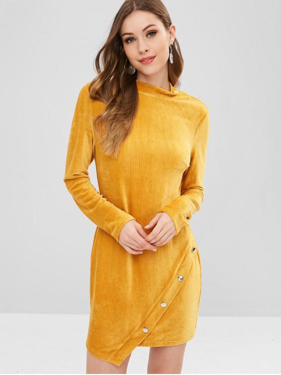 Mini vestido ajustado manga larga