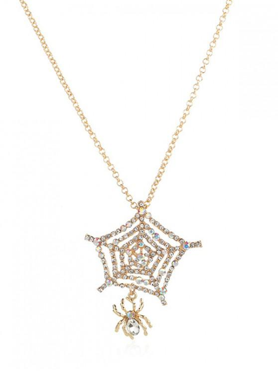 hot Hollow Spider Web Sweater Chain - GOLD