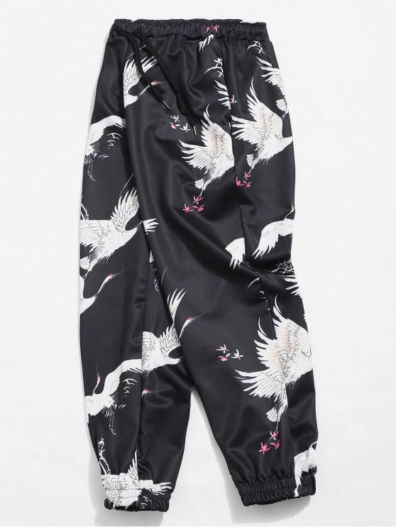 بنطلون جينز مطبع - أسود M