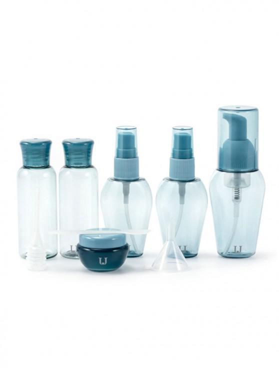 new Cosmetic Portable Plastic Empty Refillable Makeup Bottles Set - SEA BLUE