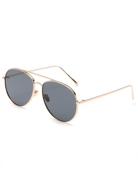 unique Crossbar Frame Unisex Mirrored Sunglasses - GOLD