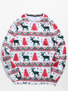 Christmas Tree Reindeer Print Sweatshirt - Multi S