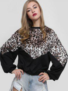 Leopard Print Loose Sweatshirt - Leopard L