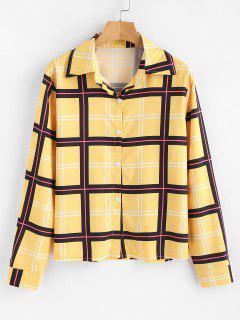 Chemise à Carreaux - Jaune Xl