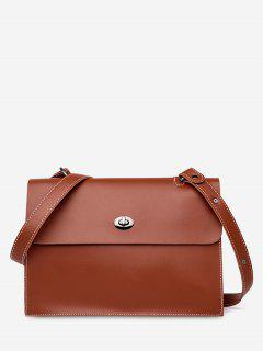 2Pcs Large Capacity PU Crossbody Bag - Brown