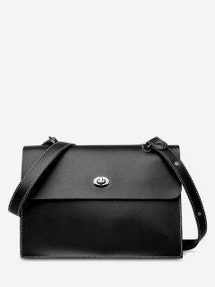 2Pcs Large Capacity PU Crossbody Bag - Black