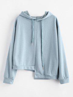 Asymmetrical Hoodie - Blue Gray