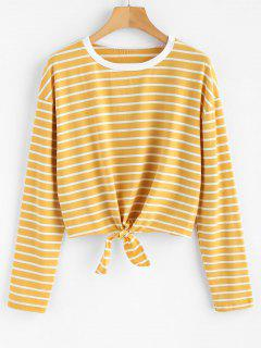 Cravate T-shirt à Rayures - Verge D'or S