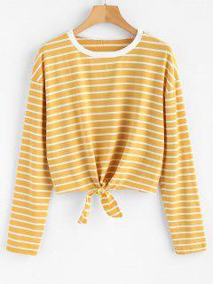 Tie Striped T-shirt - Goldenrod Xl
