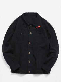 Multi Pockets Denim Jacket - Black L