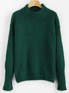 Mixed Yarn Sweater - Dark Forest Green