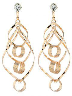 Hollow Out Geometric Design Drop Earrings - Gold