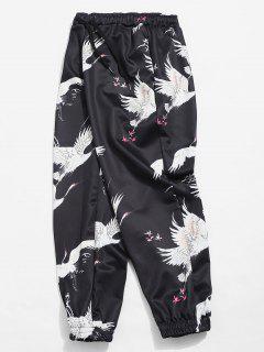 Pantalon De Jogging Grue Imprimée Elastique - Noir S