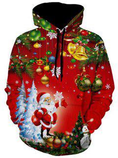 Santa Christmas Tree Jingle Bells Christmas Hoodie - Multi Xs