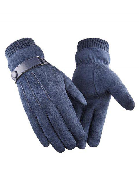 online Outdoor Full Finger Suede Gloves - JET GRAY  Mobile