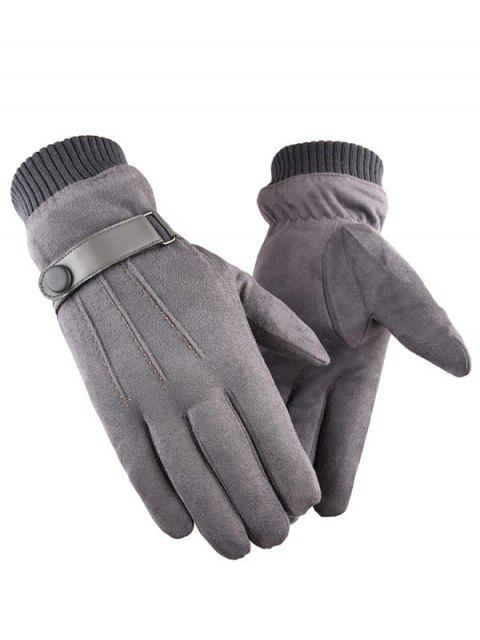 outfits Outdoor Full Finger Suede Gloves - GRAY  Mobile