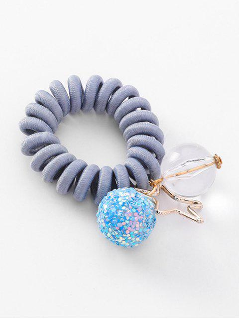 hot Planet Decoration Ponytail Holder Elastic Phone Line Hair Tie - BLUE GRAY  Mobile