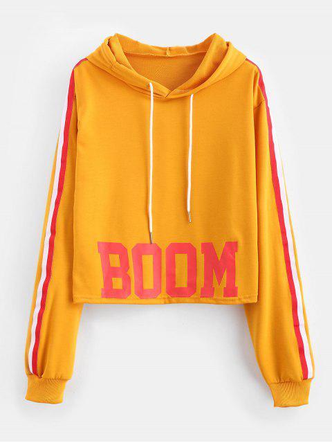 Sudadera con capucha estampada de rayas - Amarilla de Abeja  XL Mobile