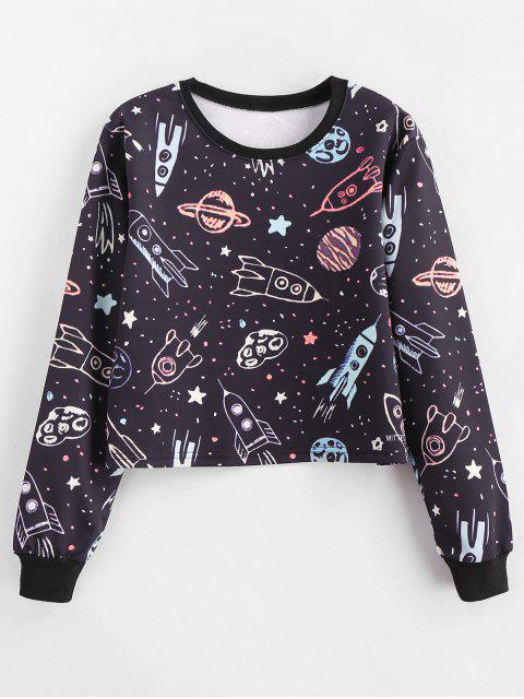 Luftschiff-Galaxie Grafik zugeschnittenes Sweatshirt - Multi M Mobile
