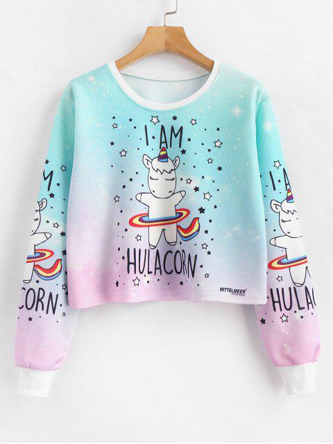 Stern-Karikatur-Druck-Pullover zugeschnittenes Sweatshirt - Multi L Mobile
