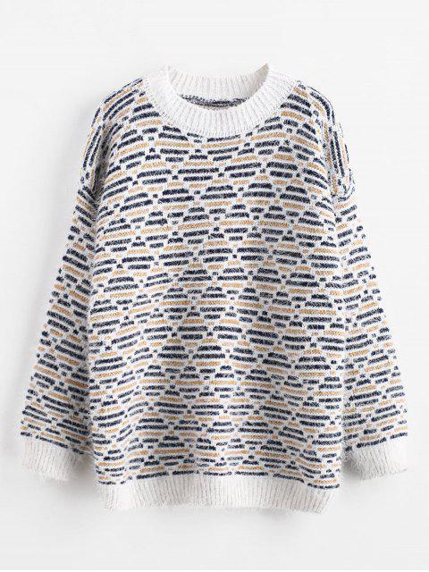 Fuzzy Argyle Sweater - Multi Eine Größe Mobile