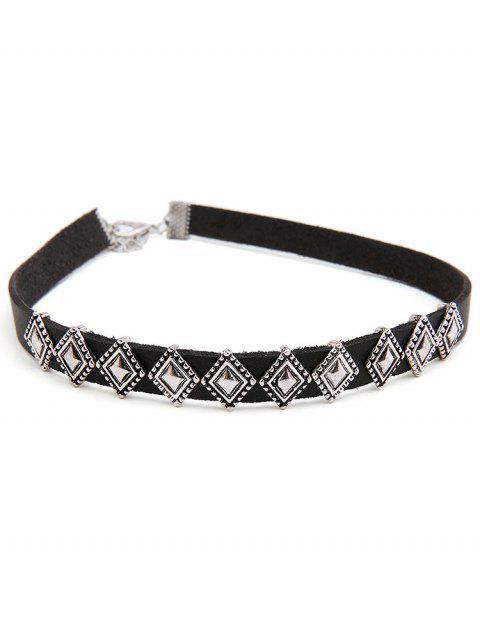 online Rhombus Design Alloy Choker Necklace - SILVER  Mobile