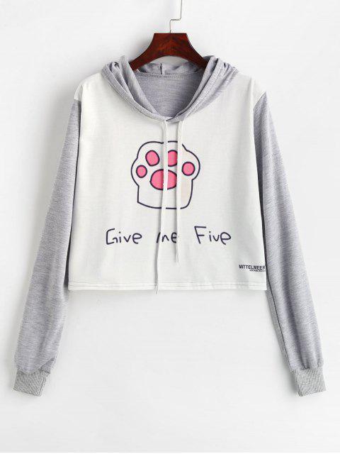 Give Me Five sudadera con capucha y diseño gráfico - Multicolor M Mobile
