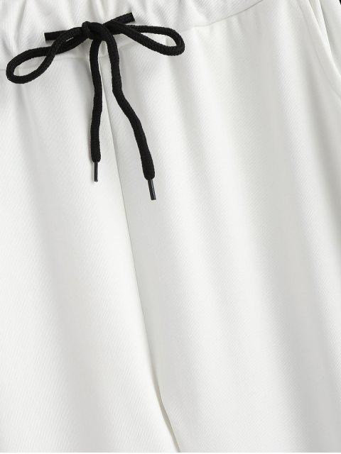 Pantalones de chándal de raya lateral - Blanco XL Mobile