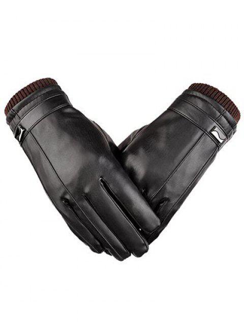 best Full Finger Waterproof Cycling Gloves - BLACK XL Mobile