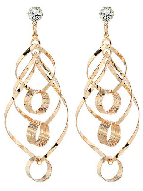 online Hollow Out Geometric Design Drop Earrings - GOLD  Mobile