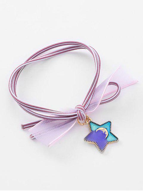 outfit Star Pattern Ponytail Hair Tie - MAUVE  Mobile
