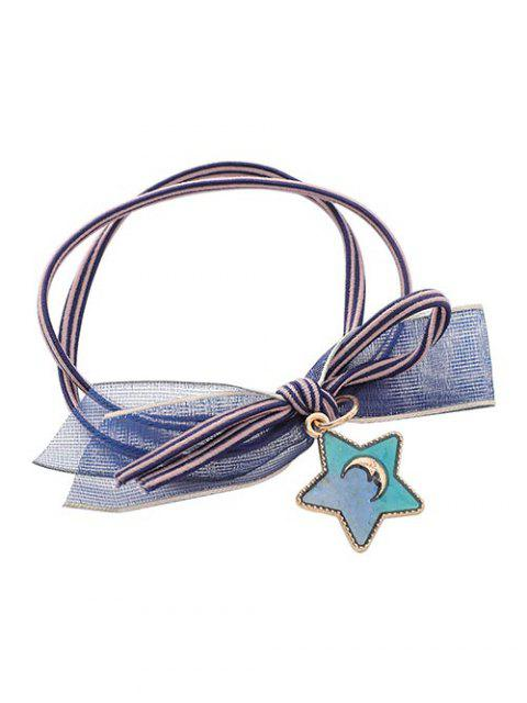 shops Star Pattern Ponytail Hair Tie - GRAY  Mobile