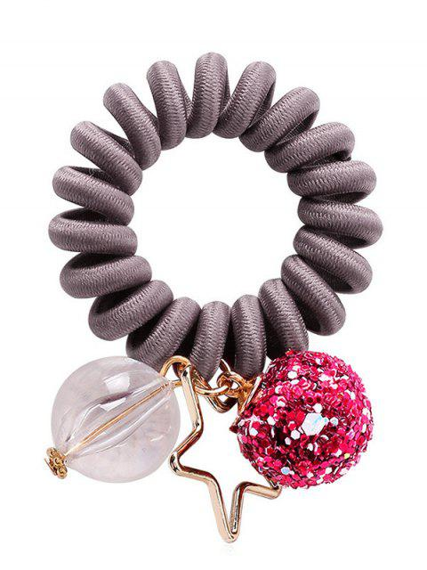 buy Planet Decoration Ponytail Holder Elastic Phone Line Hair Tie - BATTLESHIP GRAY  Mobile
