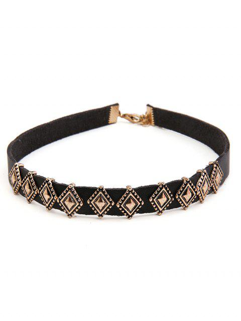 sale Rhombus Design Alloy Choker Necklace - GOLD  Mobile